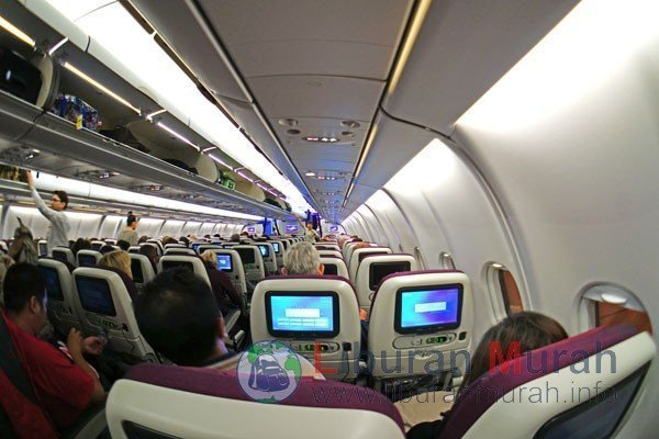 Kabin Pesawat Qatar Airways